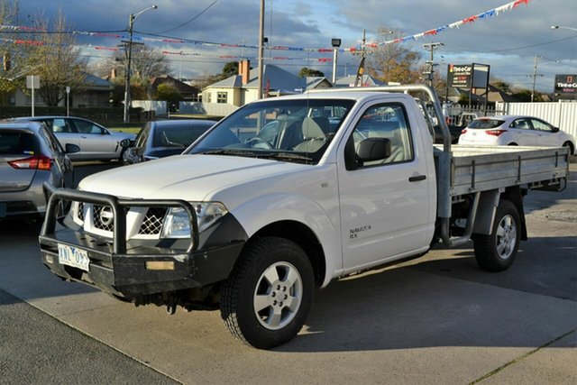 Used Nissan Navara D40 RX (4x4), 2009 Nissan Navara D40 RX (4x4) White 6 Speed Manual Cab Chassis