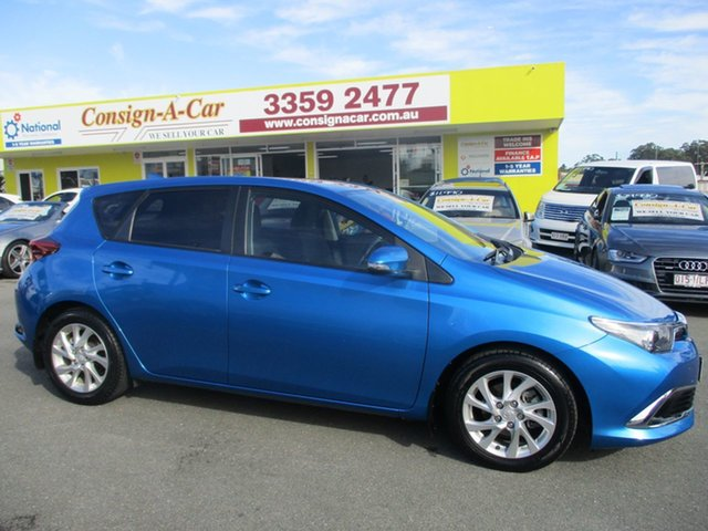 Used Toyota Corolla ZRE182R Ascent Sport S-CVT, 2015 Toyota Corolla ZRE182R Ascent Sport S-CVT Blue 7 Speed Constant Variable Hatchback