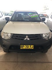 2013 Mitsubishi Triton MN MY12 GLX White 5 Speed Manual Utility