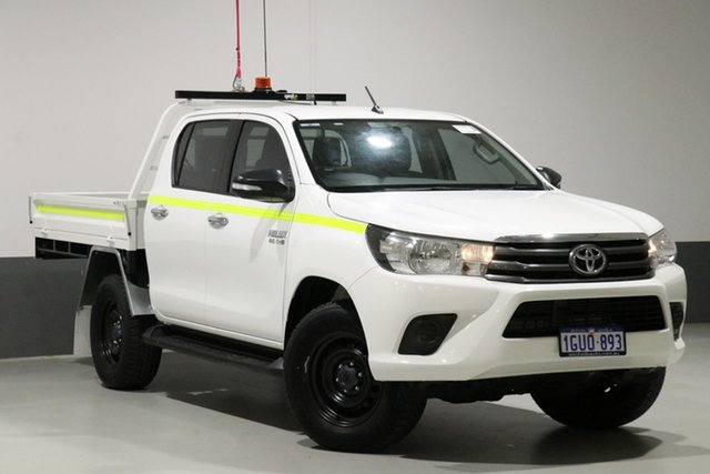 Used Toyota Hilux GUN126R SR (4x4), 2016 Toyota Hilux GUN126R SR (4x4) White 6 Speed Automatic Dual Cab Chassis