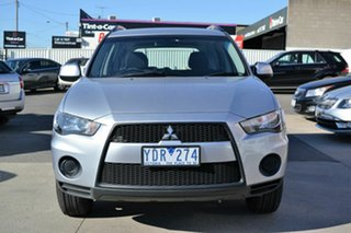 2011 Mitsubishi Outlander ZH MY11 LS Silver 6 Speed CVT Auto Sequential Wagon.