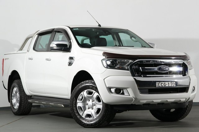 Used Ford Ranger PX MkII XLT Double Cab 4x2 Hi-Rider, 2015 Ford Ranger PX MkII XLT Double Cab 4x2 Hi-Rider White 6 Speed Sports Automatic Utility