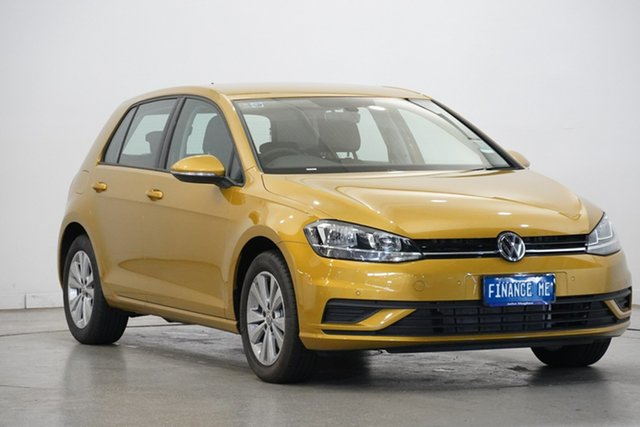 Used Volkswagen Golf 7.5 MY19 110TSI DSG Trendline, 2018 Volkswagen Golf 7.5 MY19 110TSI DSG Trendline Turmeric Yellow 7 Speed