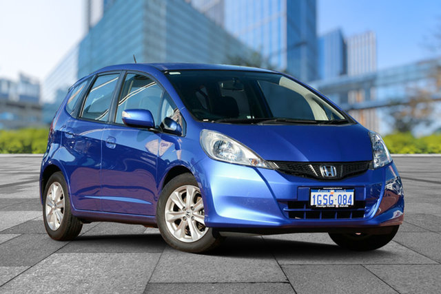 Used Honda Jazz GE MY12 Vibe, 2012 Honda Jazz GE MY12 Vibe Blue 5 Speed Manual Hatchback