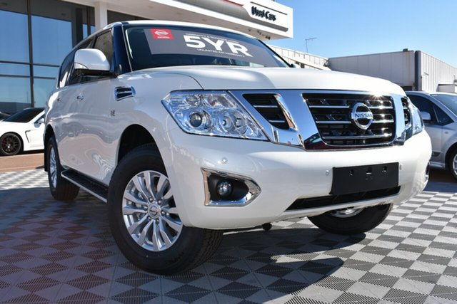 New Nissan Patrol Y62 Series 4 TI, 2019 Nissan Patrol Y62 Series 4 TI Ivory Pearl 7 Speed Sports Automatic Wagon