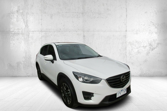 Used Mazda CX-5 KE1032 Akera SKYACTIV-Drive AWD, 2015 Mazda CX-5 KE1032 Akera SKYACTIV-Drive AWD White 6 Speed Sports Automatic Wagon