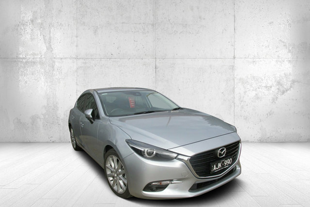 Used Mazda 3 BN5438 SP25 SKYACTIV-Drive GT, 2016 Mazda 3 BN5438 SP25 SKYACTIV-Drive GT Silver 6 Speed Sports Automatic Hatchback