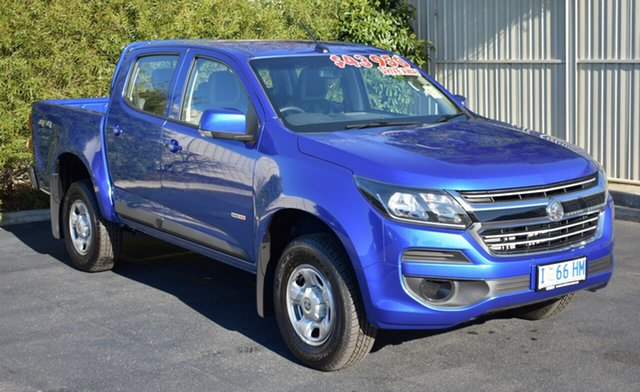 Demo Holden Colorado RG MY19 LS Pickup Crew Cab, 2019 Holden Colorado RG MY19 LS Pickup Crew Cab Power Blue 6 Speed Sports Automatic Utility
