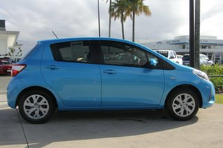 2017 Toyota Yaris NCP130R Ascent Azure Blue 4 Speed Automatic Hatchback.