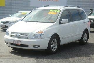 2010 Kia Carnival VQ MY10 EXE White 4 Speed Sports Automatic Wagon.