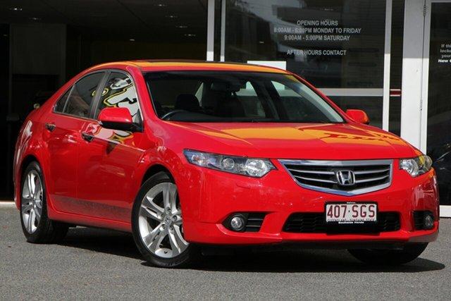 Used Honda Accord Euro CU MY12 Luxury, 2012 Honda Accord Euro CU MY12 Luxury Red 5 Speed Automatic Sedan