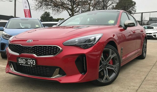 Demo Kia Stinger CK MY19 GT Fastback, 2019 Kia Stinger CK MY19 GT Fastback Hichroma Red 8 Speed Sports Automatic Sedan