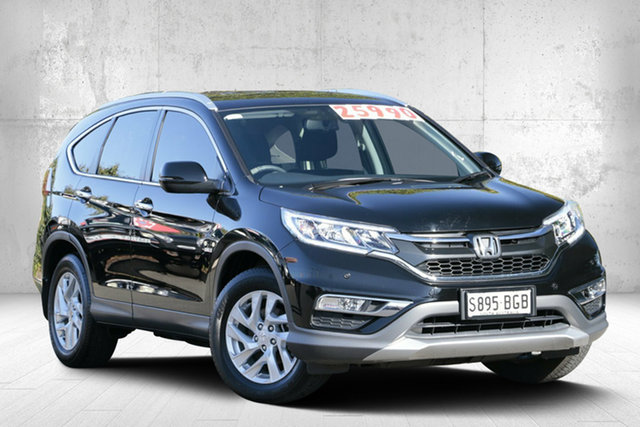 Used Honda CR-V RM Series II MY16 VTi-S 4WD, 2015 Honda CR-V RM Series II MY16 VTi-S 4WD Crystal Black 5 Speed Sports Automatic Wagon