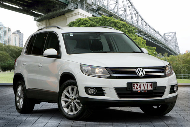 Used Volkswagen Tiguan 5N MY15 132TSI DSG 4MOTION, 2014 Volkswagen Tiguan 5N MY15 132TSI DSG 4MOTION White 7 Speed Sports Automatic Dual Clutch Wagon