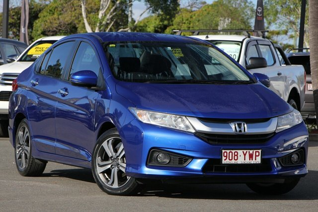 Used Honda City GM MY14 VTi-L, 2015 Honda City GM MY14 VTi-L Blue 7 Speed Constant Variable Sedan