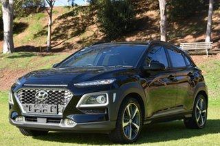 2017 Hyundai Kona OS MY18 Highlander 2WD Black 6 Speed Sports Automatic Wagon