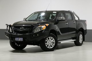2013 Mazda BT-50 MY13 GT (4x4) Black 6 Speed Automatic Dual Cab Utility.