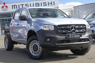 2018 Mercedes-Benz X-Class 470 X250d 4MATIC Pure Silver 6 Speed Manual Cab Chassis.