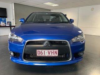 2014 Mitsubishi Lancer CJ MY14.5 LX Blue 6 Speed CVT Auto Sequential Sedan.