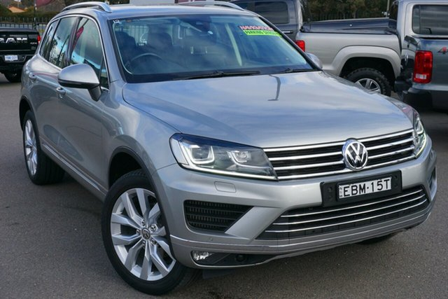 Used Volkswagen Touareg 7P MY16 V6 TDI Tiptronic 4MOTION, 2015 Volkswagen Touareg 7P MY16 V6 TDI Tiptronic 4MOTION Tungsten Silver 8 Speed Sports Automatic