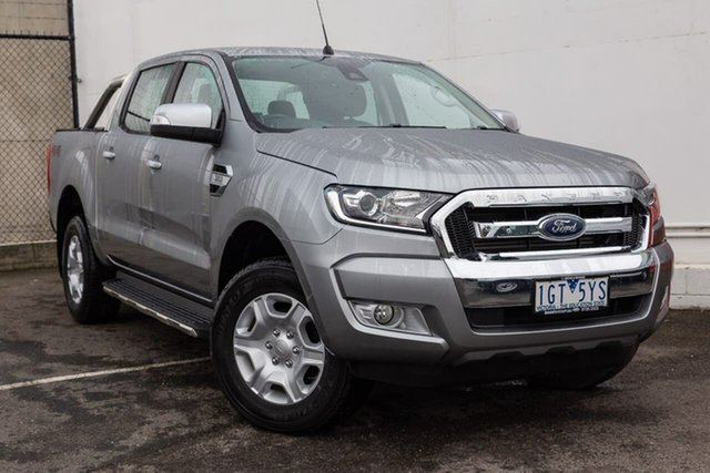 Used Ford Ranger PX MkII XLT Double Cab, 2016 Ford Ranger PX MkII XLT Double Cab Silver 6 Speed Manual Utility