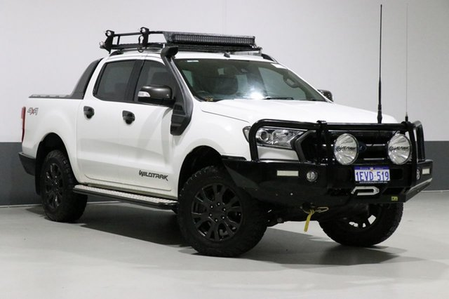 Used Ford Ranger PX MkII Wildtrak 3.2 (4x4), 2015 Ford Ranger PX MkII Wildtrak 3.2 (4x4) White 6 Speed Automatic Dual Cab Pick-up