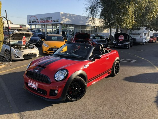 Used Mini Roadster R59 John Cooper Works, 2012 Mini Roadster R59 John Cooper Works Red 6 Speed Sports Automatic Roadster