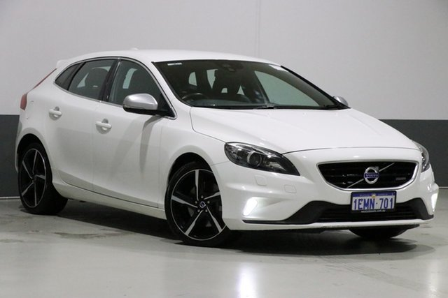 Used Volvo V40 M T5 R-Design, 2014 Volvo V40 M T5 R-Design White 6 Speed Automatic Hatchback