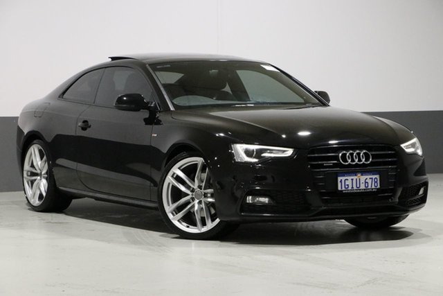 Used Audi A5 8T MY14 3.0 TDI Quattro, 2014 Audi A5 8T MY14 3.0 TDI Quattro Mythos Black 7 Speed Auto Direct Shift Coupe