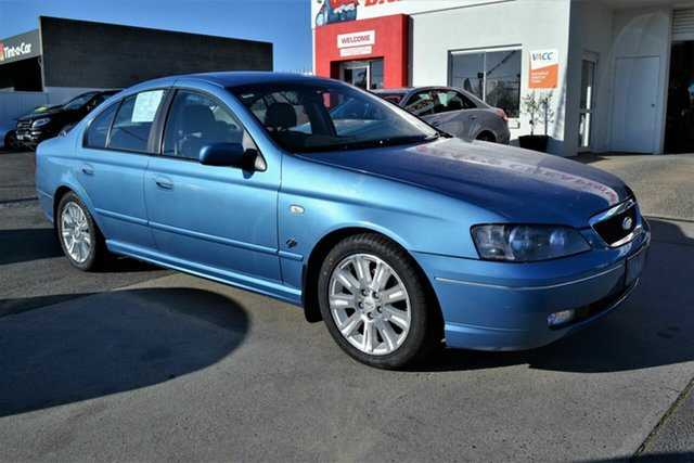 Used Ford Fairmont BA MkII Ghia, 2005 Ford Fairmont BA MkII Ghia Blue 4 Speed Auto Seq Sportshift Sedan