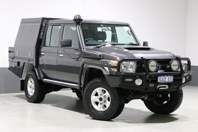 Used Toyota Landcruiser LC70 VDJ79R MY17 GXL (4x4), 2017 Toyota Landcruiser LC70 VDJ79R MY17 GXL (4x4) Graphite 5 Speed Manual Double Cab Chassis
