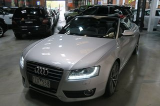 2010 Audi A5 8T MY10 S Tronic Quattro Silver 7 Speed Sports Automatic Dual Clutch Cabriolet