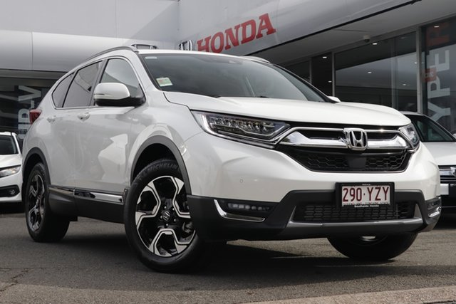 Demo Honda CR-V RW MY19 VTi-LX 4WD, 2018 Honda CR-V RW MY19 VTi-LX 4WD White Orchid 1 Speed Constant Variable Wagon