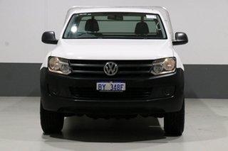 2013 Volkswagen Amarok 2H MY13 TDI400 (4x4) White 6 Speed Manual Cab Chassis.