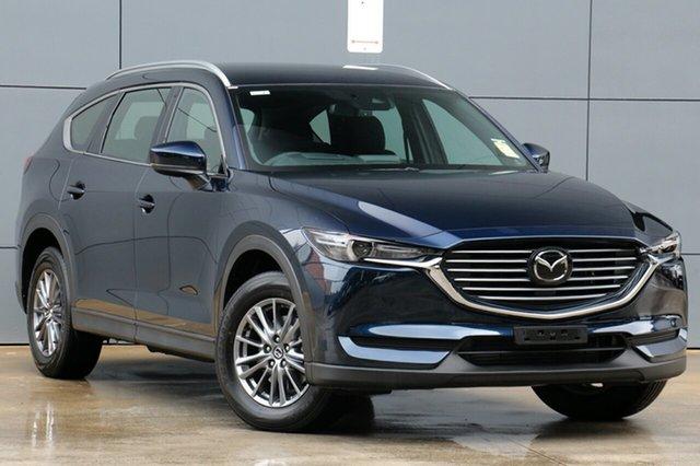 New Mazda CX-8 KG4W2A Sport SKYACTIV-Drive i-ACTIV AWD, 2018 Mazda CX-8 KG4W2A Sport SKYACTIV-Drive i-ACTIV AWD Deep Crystal Blue 6 Speed Sports Automatic