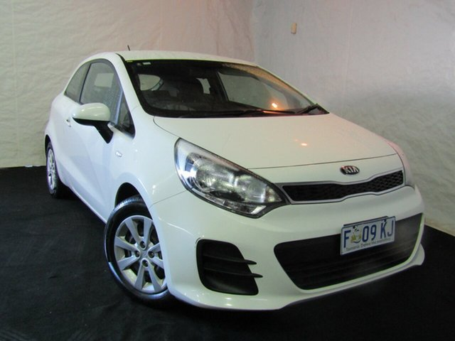 Used Kia Rio UB MY16 S, 2016 Kia Rio UB MY16 S White 4 Speed Sports Automatic Hatchback