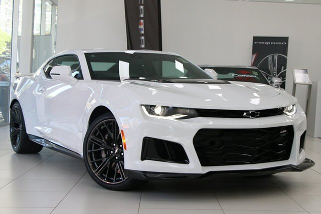 New Chevrolet Camaro 1AL37 MY19 ZL1, 2019 Chevrolet Camaro 1AL37 MY19 ZL1 Summit White 6 Speed Manual Coupe