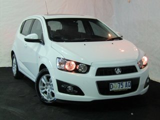 2012 Holden Barina TM Summit White 5 Speed Manual Hatchback.