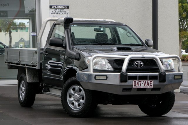 Used Toyota Hilux KUN26R MY10 SR, 2010 Toyota Hilux KUN26R MY10 SR Black 5 Speed Manual Cab Chassis