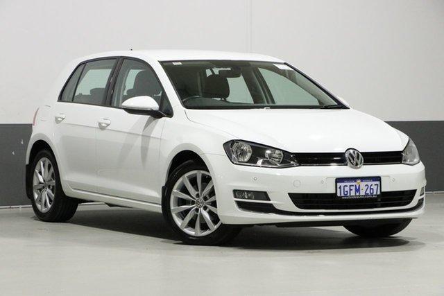 Used Volkswagen Golf AU MY17 110 TDI Highline, 2017 Volkswagen Golf AU MY17 110 TDI Highline White 6 Speed Direct Shift Hatchback