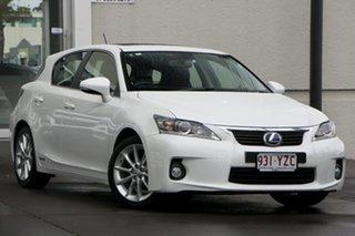 2013 Lexus CT200H ZWA10R MY13 Luxury White 1 Speed Constant Variable Hatchback Hybrid.