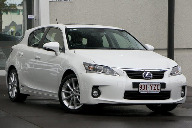Used Lexus CT ZWA10R MY13 CT200h Luxury, 2013 Lexus CT ZWA10R MY13 CT200h Luxury White 1 Speed Constant Variable Hatchback Hybrid