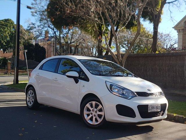 Used Kia Rio UB MY14 S, 2014 Kia Rio UB MY14 S White 4 Speed Sports Automatic Hatchback