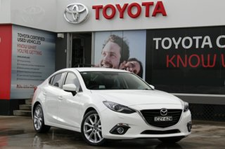 2015 Mazda 3 BM SP25 GT White 6 Speed Automatic Sedan.