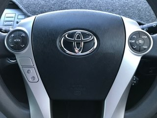 2014 Toyota Prius ZVW30R MY12 Crystal Pearl 1 Speed Constant Variable Liftback Hybrid