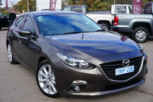 Used Mazda 3 BM5438 SP25 SKYACTIV-Drive, 2015 Mazda 3 BM5438 SP25 SKYACTIV-Drive Brown 6 Speed Sports Automatic Hatchback