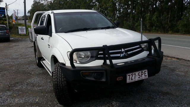 Used Mitsubishi Triton MN MY12 GLX Double Cab, 2012 Mitsubishi Triton MN MY12 GLX Double Cab White 5 Speed Manual Utility