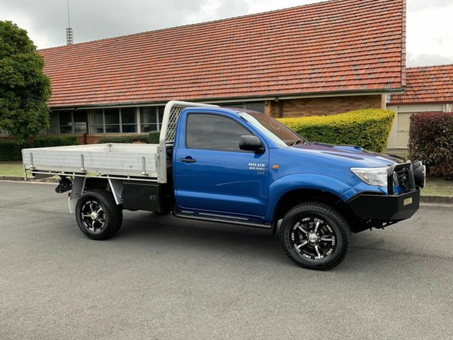 Used Toyota Hilux KUN26R SR, 2012 Toyota Hilux KUN26R SR Blue 5 Speed Manual Single Cab