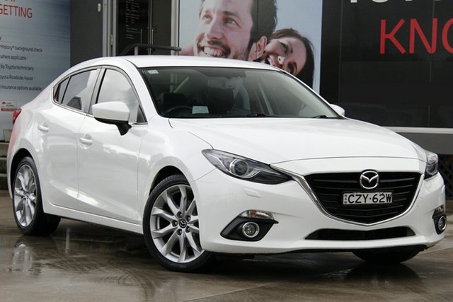 Used Mazda 3 BM SP25 GT, 2015 Mazda 3 BM SP25 GT White 6 Speed Automatic Sedan