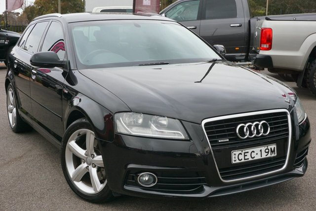 Used Audi A3 8P MY11 TFSI Sportback S Tronic Attraction, 2011 Audi A3 8P MY11 TFSI Sportback S Tronic Attraction Black 7 Speed Sports Automatic Dual Clutch
